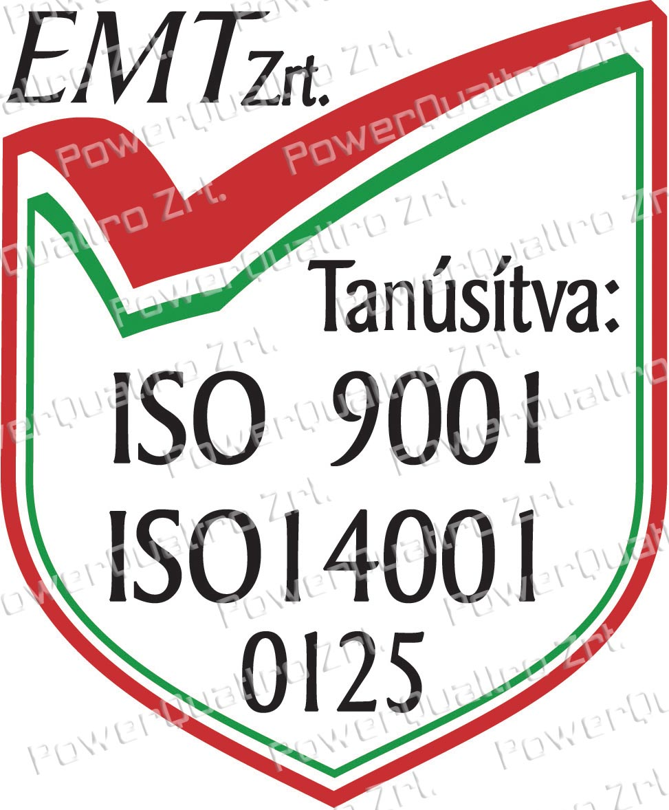 ISO9001, ISO14001 tanúsított társaság
